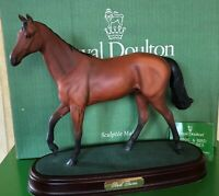 ROYAL DOULTON HORSE RED  RUM RACEHORSE No.DA 226 BROWN MATT ON PLINTH BOXED