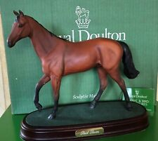 ROYAL DOULTON HORSE RED  RUM RACEHORSE No.DA 226 BROWN MATT ON PLINTH BOXED