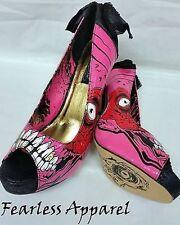 Iron Fist Buscador de Oro Zombie Stomper Rosa Dorado Mujer Tacones