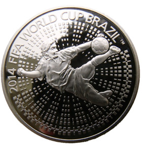 BELARUS 1 ROUBLE 2014 FOOTBALL SOCCER FIFA WORLD CUP BRAZIL MUNDIAL IN CAPSULE