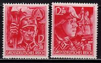 THIRD REICH 1945 Mi. #909-910 mint SA/SS Stormtroopers stamp set!