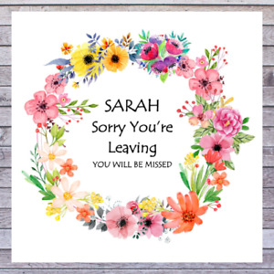 .. PERSONALISED SORRY YOU'RE LEAVING CARDS - ENJOY YOUR RETIREMENT CARDS