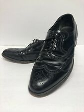Lb Sheppard Signature Black Leather Hanover Wingtip shoes Mens Size 10 B/Aa