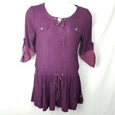 Paint by Number Matilda Jane Dress size L womens purple gauze