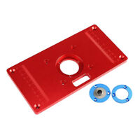 Aluminum Router Table Insert Plate 235x120mm with 2 Rings Woodworking Tools