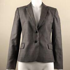JUDITH & CHARLES Womens Blazer Size 6 Light Jacket Brown Virgin Wool 2 Button