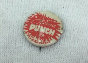 RARE!!!!! Joe Louis PUNCH soda pop pinback boxing button!!! Vintage 1940's!!!!!