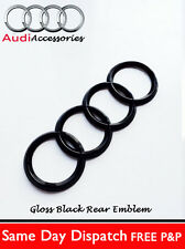 AUDI TT GLOSS BLACK  REAR BLACK RINGS BADGE TT  BOOT 192 X 63