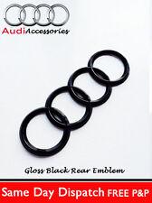 Audi tt noir brillant arrière noir anneaux badge tt boot 192 x 63