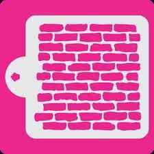 Brick Wall Pattern Cake Stencil #S-151 * Cookie Stencil * Cupcake Stencil *
