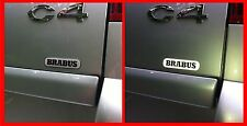 BRABUS 3D domed light reflecting sticker badge 80mm lenght [H217]