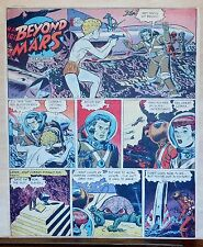 Beyond Mars by Jack Williamson - scarce full tab Sunday comic page July 27, 1952