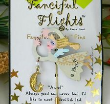 Fanciful Flights Stick Pin by Karen Rossi Angel Pin Card With Poem NIP