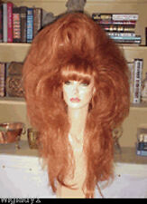SIN CITY WIGS FIERY SEXY RED BIG VOLUME BODY TEASED LONG BANGS DRAG QUEEN HOT