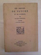 LES AMOURS DE PSYCHE CUPIDON 1960 DE LA FONTAINE ILLUSTRE GRAVURE
