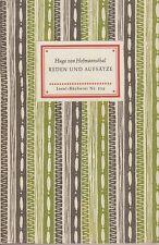IB 339-Hugo de Hofmannsthal: discursos y ensayos personales 1952