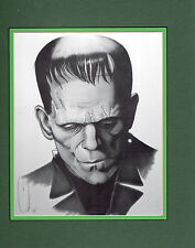 BORIS KARLOFF FRANKENSTEIN PROFESSIONALLY MATTED PRINT Frame Ready