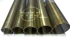 """Perforated Tube 2.25""""  Diameter 1 Metre Stainless Steel Exhaust Straight Pipe 1m"""