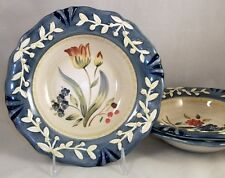 Certifiied International FLORA 3 Pasta Bowls 3 Different Designs GREAT CONDITION