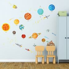 Decowall Space Planets Stars Removable Nursery Kids Wall Stickers Decal DW-1501S
