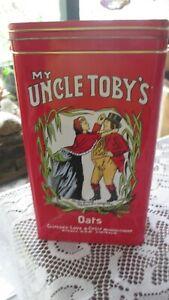 ** Retro Uncle Tobys Oats Tin Celebrating 120 years flip lid**