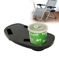 2pc Deck Chair Clip On Side Table Garden Tray Cup Phone Holder Camping Outdoor 2