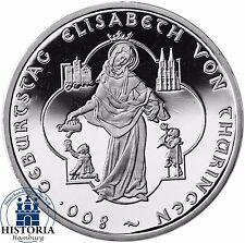 Deutschland 10 Euro Elisabeth v. Thüringen 2007 Silber-Gedenk-Münze Spiegelglanz