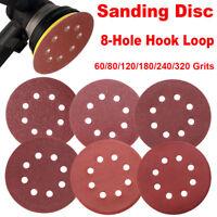 5'' Sanding Disc, 120 Pcs 40 60 80 100 180 240 Grit Assorted Sandpaper for Bosch