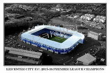 LEICESTER CITY F.C. - THE FOXES - KING POWER STADIUM - LOOKS AWESOME FRAMED