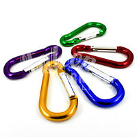 ALUMINIUM COLOURED CARABINER SPRING LOADED SNAP CLIP HOOK KARABINER 50mm - 80mm