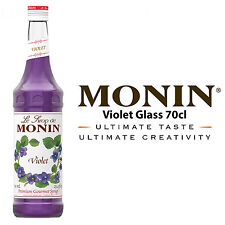 MONIN Coffee Syrups - 70cl Glass VIOLET Syrup - USED BY COSTA COFFEE