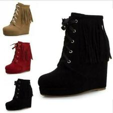Size-Uk-3456 ladies Womens-Ankle-Boots-Studded-Low-Heel-Ladies-Bow-Shoes