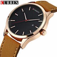 CURREN Watch Men's Luxury Casual leather Watches Boys Sports Quartz Wristwatches