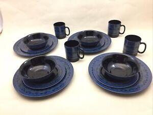 Yucatan by Arcoroc 16 Pc Dinner Set 4 Each Dinner Plate Dessert Plate Bowls Mugs