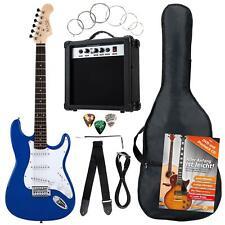 8-Teile Rocktile Bangers Pack E-Gitarren Set mit Verstärker Gigbag Gurt Blau