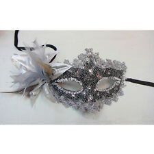 MASQUERADE BALL EYE MASK FEATHER - VENETIAN PARTY FANCY DRESS CARNIVAL EYEMASK