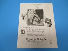 1924 Real Silk Hosiery Mills Print Ad New Way Of Buying Silk Hosiery PA008