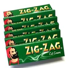25 x ZIG ZAG GREEN Paper Regular Cigarette Rolling Cig ZIGZAG Papers Cut Corners