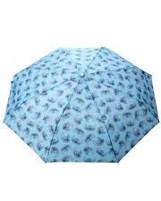 Disney Lilo & Stitch All Over Print Blue Compact Umbrella New With Tags!