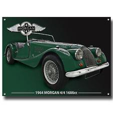 MORGAN 1964 4/4 1600CC METAL SIGN,CLASSIC BRITISH MORGAN CARS,1960'S SPORTS CARS