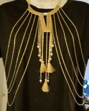 women's jewelry party Free Shipping Body chains Bc917-9 gold layers tassels