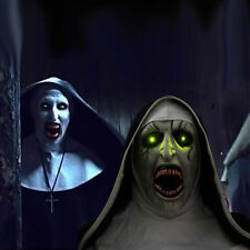 2018 The Nun Mask With Scary Voice LED Mask Cosplay The Conjuring Valak Mask New