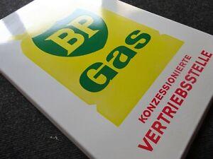 BP Gas Vertriebsstelle altes Emailschild um 1960