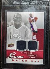 2009 UPPER DECK SHAQUILLE O'NEAL DUAL GAME USED JERSEY CARD SUNS #279/550 MINT