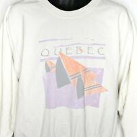 Quebec Canada Sweatshirt Vintage 80s T Shirt Sailboats Yachts Boat Racing Large