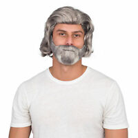 Adult Mens Luke Sky Deluxe Costume Accessory White Wig and Beard Set