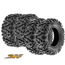 "25"" SunF ATV / UTV Tires Full Complete Set of 4 - 25x8-12  25x10-12 6 Ply A033"