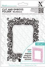 Xcut A6 Corte y textura combinación troquelado & carpeta Floral Paréntesis