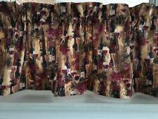 "NEW Wine Glasses & Wine Bottles Valance Curtain 42""W x 13""L"