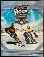 2016 NHL WINTER CLASSIC PROGRAM BOSTON BRUINS MONTREAL CANADIENS BRIDGESTONE